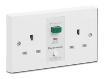 Picture of G/Brook M22W RCD Twin Swd Socket 13A