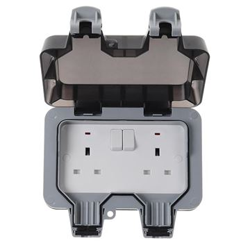 Picture of BG WP22 IP66 Socket 2G DP Switched 13A