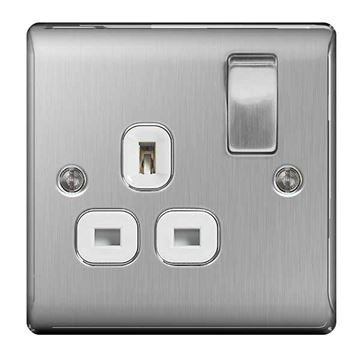 Picture of BG NBS21W Switched Socket 1G DP 13A