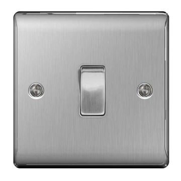 Picture of BG NBS12 Plate Switch 1 Gang 2 Way 10A