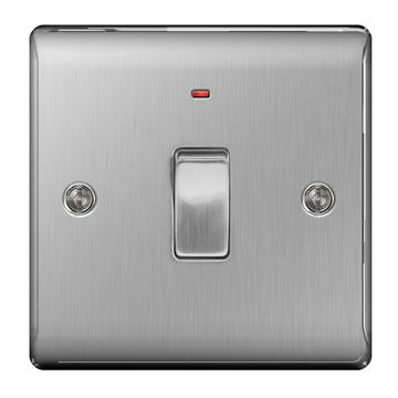 Picture of BG NBS31 Switch DP c/w Neon 20A
