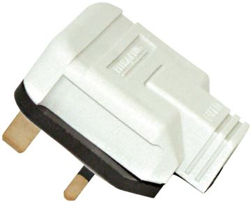 Picture of BG HDPT13W Rubber Plug Top 13A White