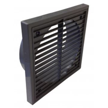 """Picture of NVA F4904B Fan 4"""" Fixed Wall Grille Brown"""