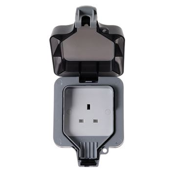 Picture of BG WP23 IP66 Socket 1Gang Unswitched 13A