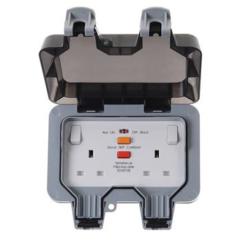 Picture of BG WP22RCD Socket 2G RCD Switched 13A