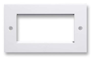 Picture of Cntx 2 Gang 4 Mod Faceplate 100x50mm Whi
