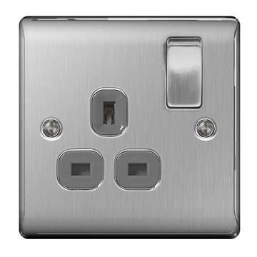 Picture of BG NBS21G Switched Socket 1G DP 13A