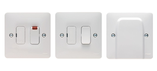 Picture for category Connection Unit  White Moulded Wiring Accessories
