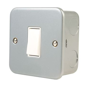 Picture of Click CL011 Switch 1G 2W & Box 10A Mclad