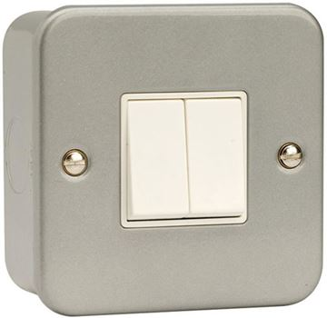 Picture of Click CL012 Switch 2G 2W & Box 10A Mclad