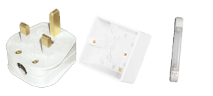 Picture for category Accessories White Moulded Wiring Accessories