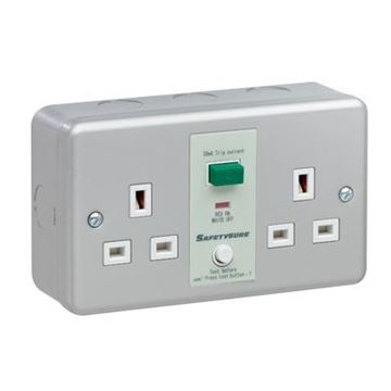 Picture of G/Brook M22M RCD Twin Unswd Socket 13A