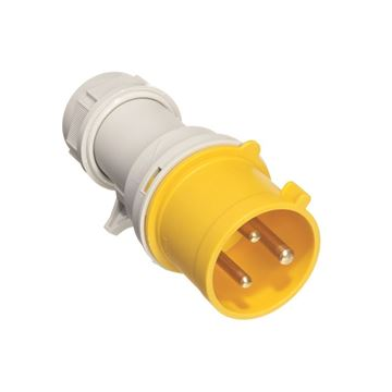 Picture of Europa IP163F Plug 2P+E 16A 110V Yel