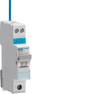 Picture of Hager ADA306G RCBO B Type A 6kA 6A 30mA