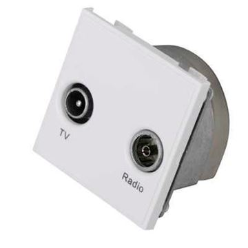 Picture of Hager WMMDX Socket TV/FM Diplexer Whi