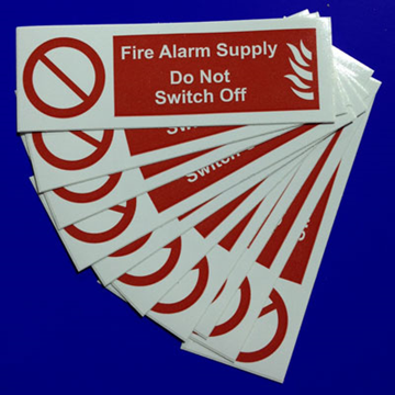 Picture of Ind Signs IS0810SA F/Alarm Sply Lbl Pk10