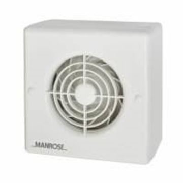 """Picture of Manrose CF100T Fan 4"""" Centrifugal Timed"""