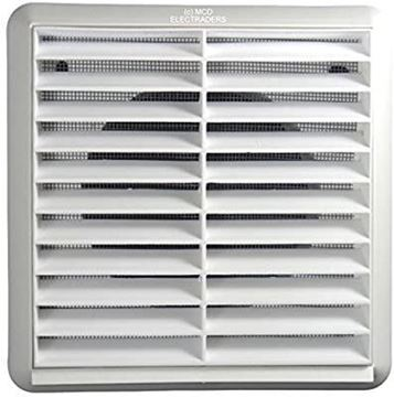 """Picture of NVA F4904W Fan 4"""" Fixed Wall Grille White"""