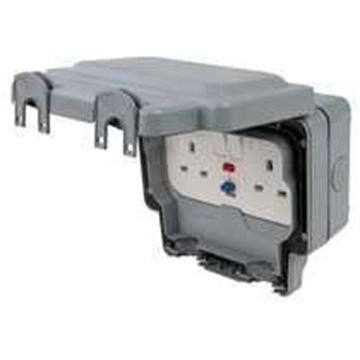 Picture of MK K56231GRY Socket 2G RCD Active13A30MA