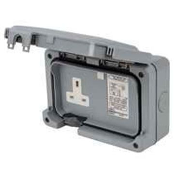 Picture of MK K56301GRY Socket 1G RCD Active13A30MA