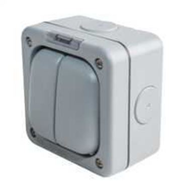Picture of MK K56402GRY Switch 2 Gang 1 Way SP 10A