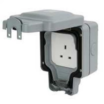 Picture of MK K56480GRY Socket 1G Unswitched 13A