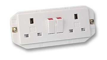 Picture of MK 2532WHI Socket 2 Gang Non Std 13A