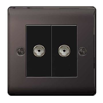Picture of BG NBN63 Isolated Co-Axial Socket 2 Gang