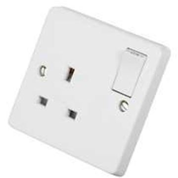Picture of Crab 4304 Socket 1G Dual Earth 13A