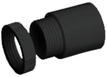 Picture of MT A25LRBK Male Adaptor 25mm Blk