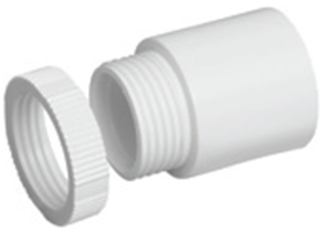 Picture of MT A25LRWH Male Adaptor 25mm Whi