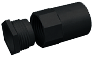 Picture of MT A25MBBK Female Adaptor 25mm Blk