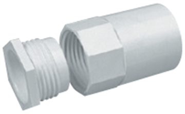 Picture of MT A25MBWH Female Adaptor 25mm Whi