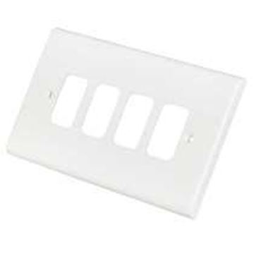 Picture of Deta G3304 Frontplate 4 Gang White