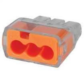 Picture of IDEAL 30-1033 Push-In Wire Connector Org PK-100